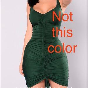 Fashion Nova Ruched Tank Dress Blue Size M